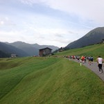 Beautiful running conditions at SwissAlpine 2012
